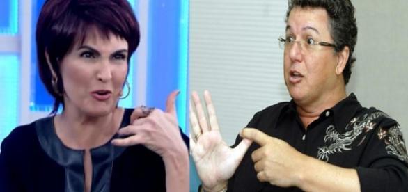 Fátima Bernardes e Boninho - Foto/Montagem