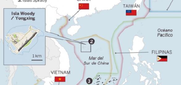 foto del plano del mar del sur de China
