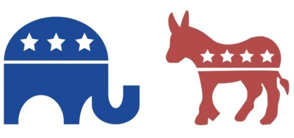 L'elefante repubblicano e l'asino democratico.