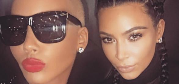Kim Kardashian esteve com Amber Rose