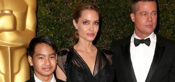 Angelina Jolie e seu primeiro filho.