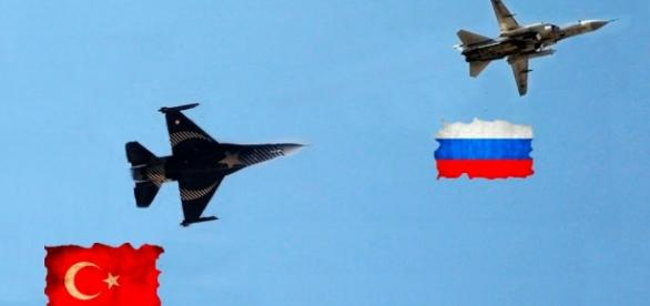 Avioane de luptă ale Turciei și Rusiei