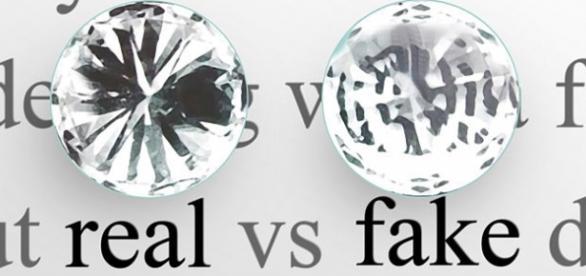 Diferencia entre un diamante real y uno falso