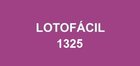 Publicadas as dezenas da Lotofácil 1325