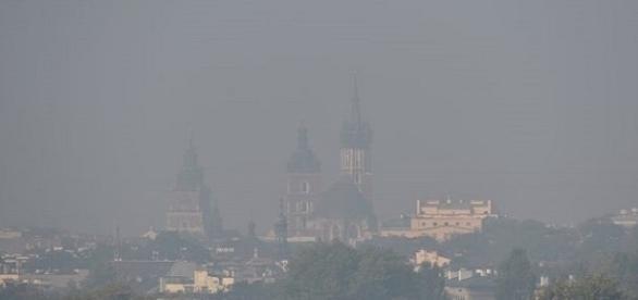 Zanieczyszczone powietrze w Krakowie