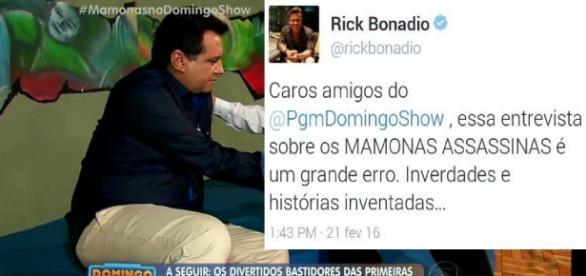 Geraldo Luís da TV Record - Foto/Montagem