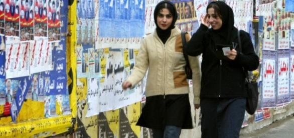 Teerã com as suas bonitas garotas
