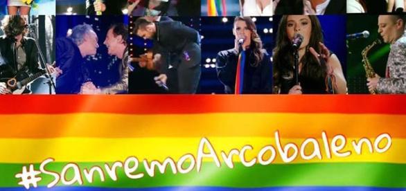 L'hastag per Sanremo Arcobaleno (Fonte FB)