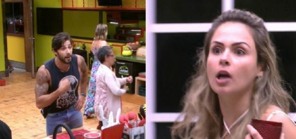 Renan e Ana Paula brigam ao vivo - Foto/Reprodução
