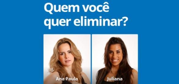Ana Paula e Juliana disputam o paredão dos milhões