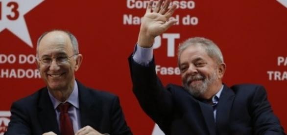 Luis Inácio Lula da Silva e Rui Falcão