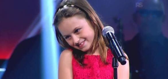 Participante do The Voice Kids (Reprodução)