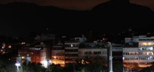 Bairros do Rio De Janeiro no escuro