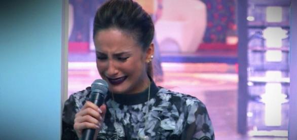 Claudia Leitte chora no Caldeirão - Foto/Repro
