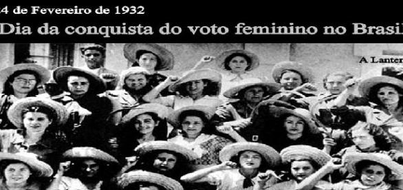 O voto feminino está marcado em 84 anos no Brasil.