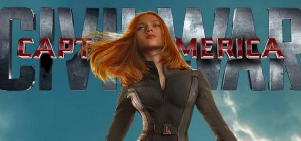 Scarlett Johansson como Black Widow en 'Civil War'