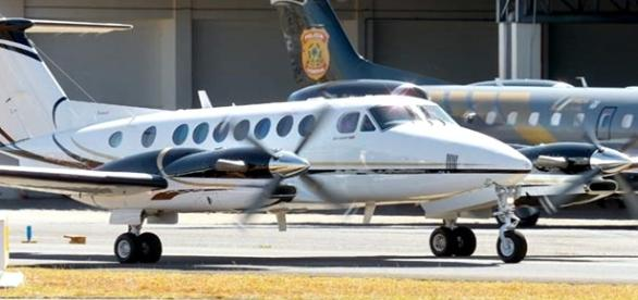 Avião da PF que quase bateu em aeronave da FAB