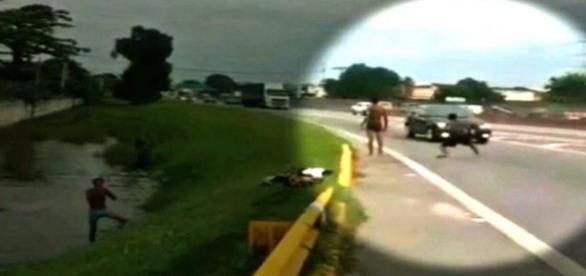 Camera flagra garoto atropelado na Via Dutra