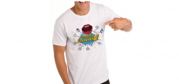 Camiseta 'Olha Ela' gera polêmica