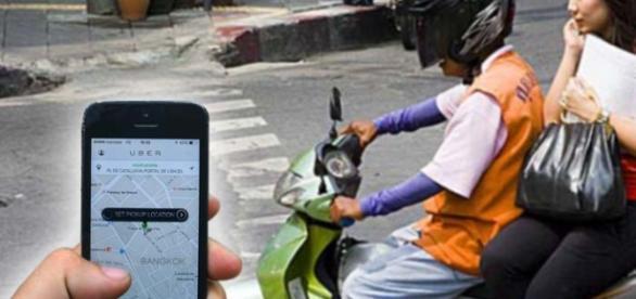 """Moto Uber """"plan piloto"""" en Tailandia y Bangkok"""