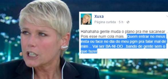 Xuxa está irritada com os fãs - Foto/Montagem