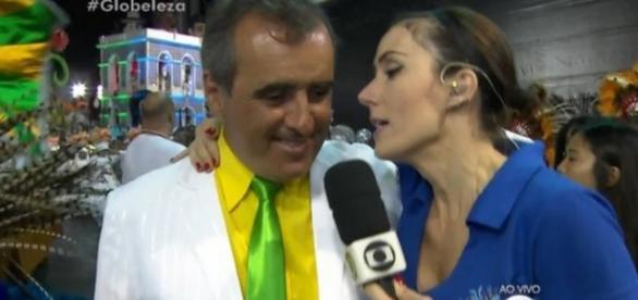 Michelle Barros em cobertura de Carnaval