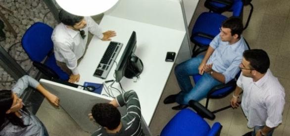 Estudantes no NPJ, no estado do Pará