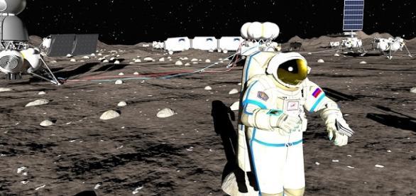 Fotografía de un Astronauta en la Luna