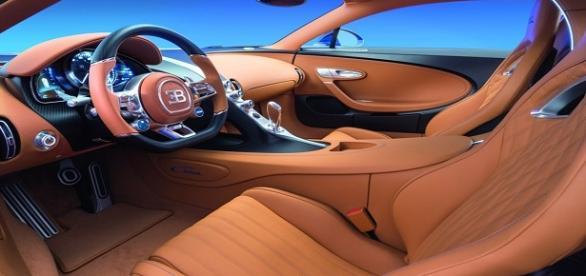 Fotografía del Interior del Bugatti Chiron