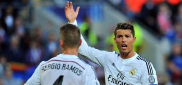 Sergio Ramos y Cristiano Ronaldo. Puntopelota.es