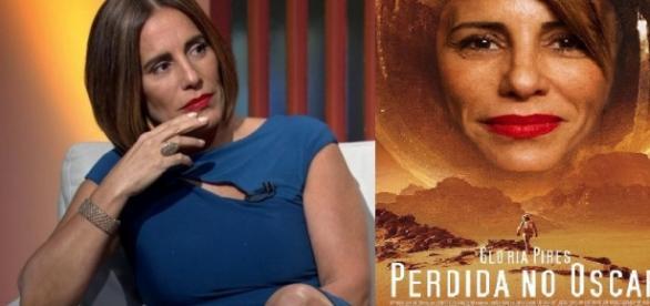 Glória Pires na Rede Globo durante Oscar 2016