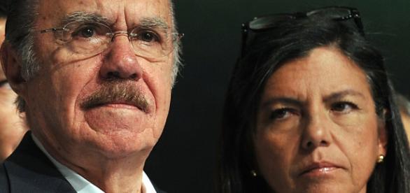 O ex-presidente José Sarney e sua filha Roseana