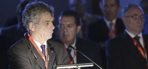 EFE. Villar durante una Asamblea de la RFEF