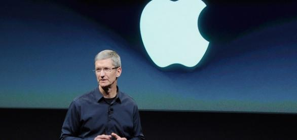 Tim Cook en una keynote de Apple
