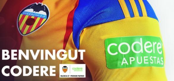 Codere patrocinador del Valencia C.F.