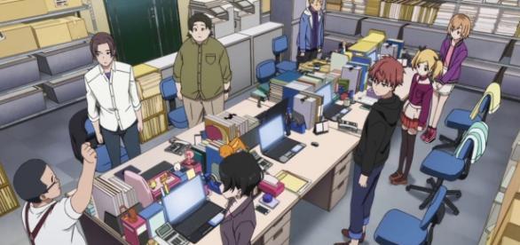 Escena del anime Shirobako de Takayuki Nagatani