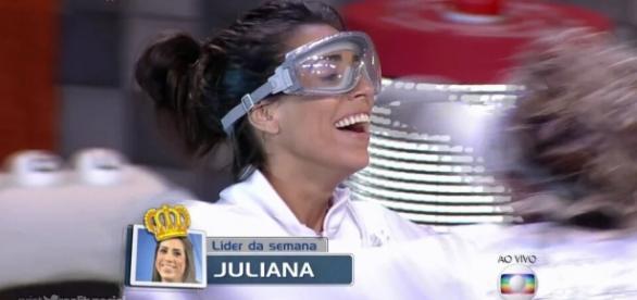 Juliana é a terceira líder do BBB16 (Reprodução)
