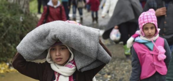 Refugiados que desejam chegar à Europa