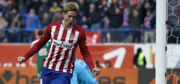 """El """"Niño"""" celebra su gol cien con el Atlético"""