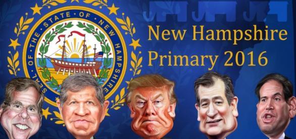 Cartel Elecciones primarias de New Hampshire 2016
