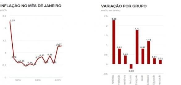 INFLAÇÃO NO MÊS DE JANEIRO 2016 - IBGE