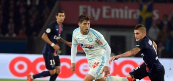 Lucas em atuação pelo Olympique