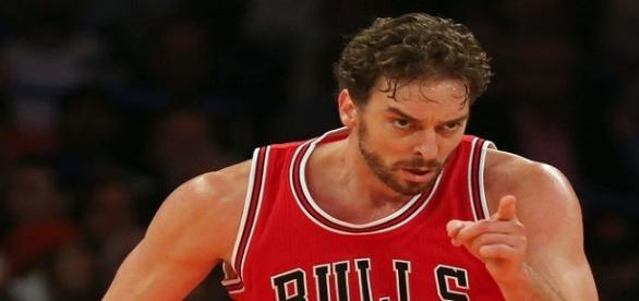 Pau Gasol, en un partido con los Bulls