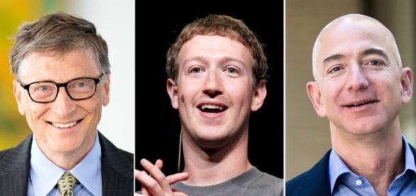 Bill Gates, Mark Zuckerberg și Jeff Bezos