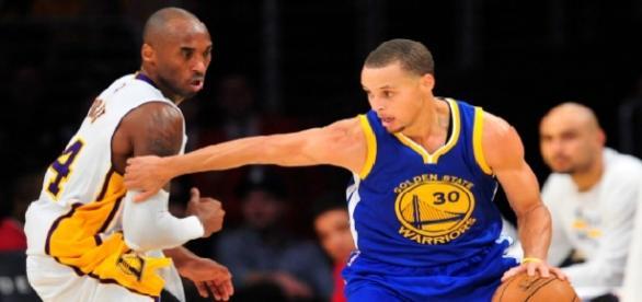 Bryant y Curry frente a frente en el partido