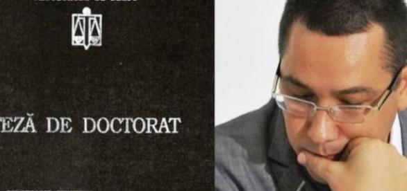 Doctoratul lui Ponta trimis la minister