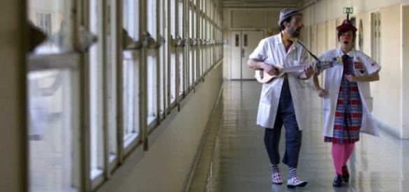 Doutores Palhaço no Hospital D. Estefânia.