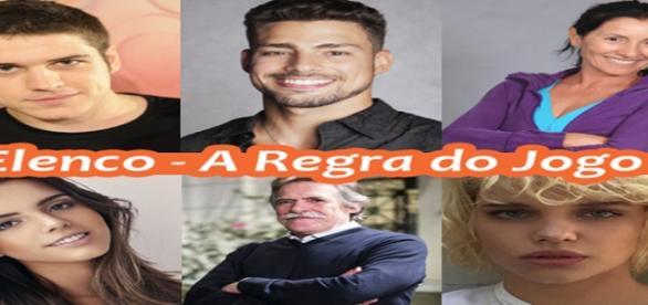 """Elenco da """"novela das nove"""" da Rede Globo"""