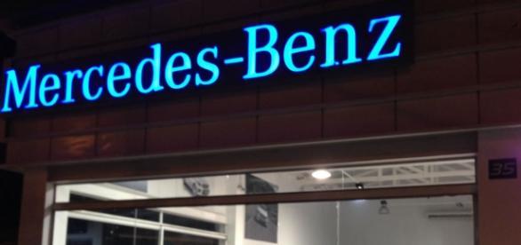 Uma das lojas da Merecedes-Benz