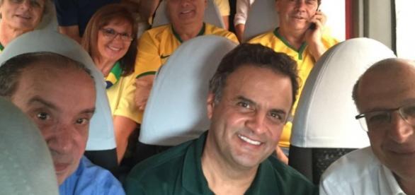 Aécio Neves e Alckmin são vaiados em SP